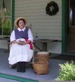 Lizzie Guptill portrayal Historic Spanish Point Heritage Holidays 2007