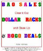 Bag Sales, Dollar Racks & BOGO DEals make any resale shop profit