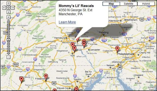 HowToConsign.com has a Zoomable Map that brings potential clients right to your door!
