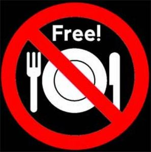 No free lunch with free things