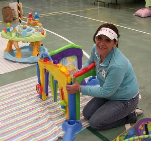 Putting together kids' toys: moms do it best.