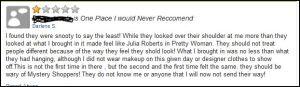 Don't let a bad review of your resale shop pop up