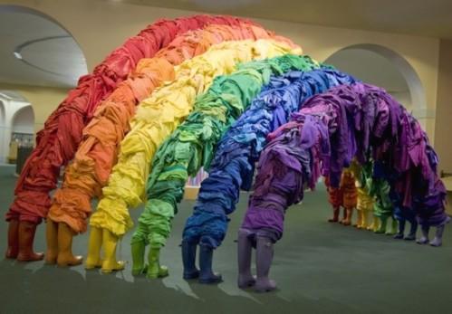Clothing sculpture from fubiz.net