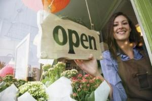 Make an open sign that reflects your shop's image