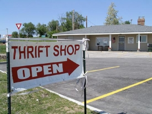 Thrift shops are a vibrant part of many market areas.