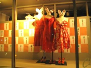 Clothes Circuit's fashionble Easter window