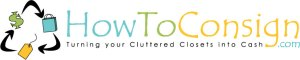 The accepted logo of HowToConsign.com, Turning your Cluttered Closets into Cash
