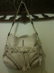 Designer bag in a consignment shop