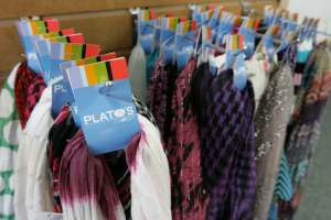 Plato's Closet puts their name right in front of shoppers' noses