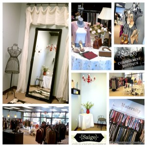 Consignment shop photo montage