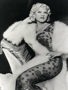 Mae West in lace and furs