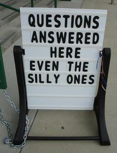 Find answers to your silly questions... withiut anyone knowing you asked!