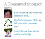 Kate Holmes, HowToConsign.com and Auntie Kate. I'm all three!