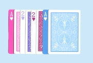 They'd used pastel playing cards as earring cards!