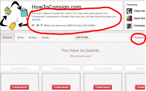 Watch HowToConsign.com set up its Pinterest boards!
