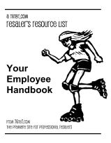 Resalers' Resource List: Your Employee Handbook