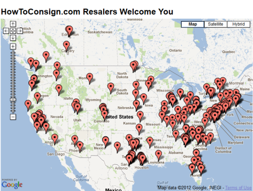HowToConsign.com maps Professional Consignment, Resale & Thrift Shops for your shopping pleasure