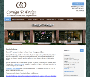 Consign to Design is a past consultee, and current Sponsor of our consumer-oriented site, HowToConsign.com