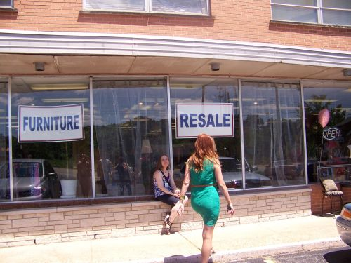 Furniture resale can have hard choices to make in window displays