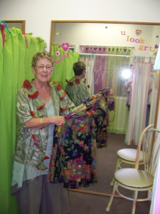 Colorful dressing rooms