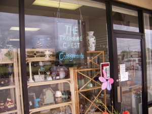 Signage on this home decor/ furnishings consignment shop