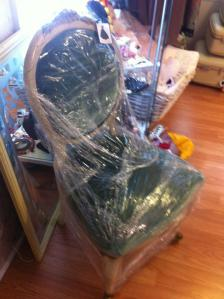 Wrapped chair for sale.