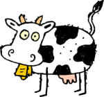 Confused consignment customer cow