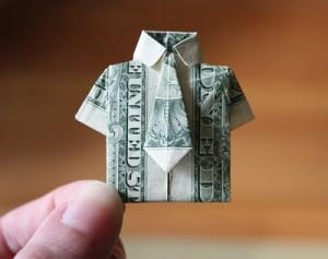 Money origami found by TGTbT.com