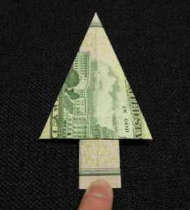 Christmas money origami on Too Good to be Threw's Pinterest