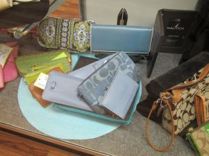 Use place mats under consigned items you want to call attention to.