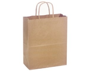 Kraft shopping bags are part of the Earthy Elegant consignment shop branding