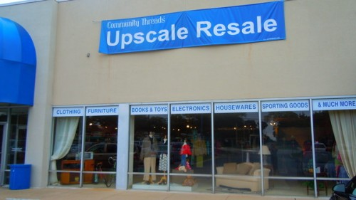 "What does this ""upscale resale"" shop have? Their windows tell you!"