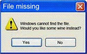 Error message that might be fun to receive.