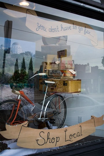 You don't have to go far... Shop Local on your bike!