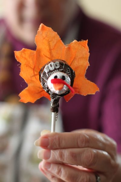 Tootsie Roll Pop turkey