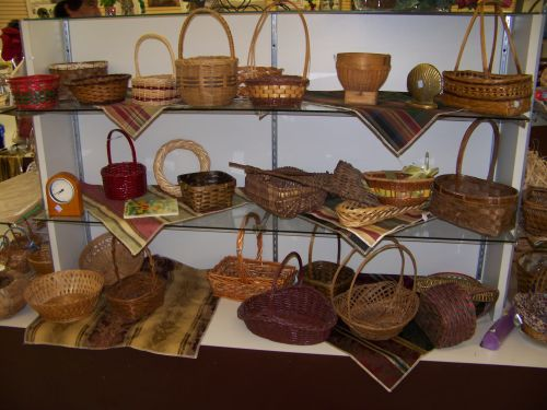 Baskets and placemats