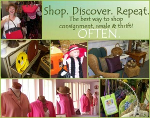 Collage of merchandise from resale shops, by TGtbT.com