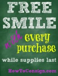 Free Smile sign from HowToConsign.com