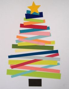 Washi tape makes a great Christmas tree for your consignment shop windows