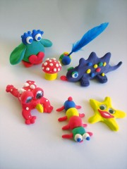 Animals made of play dough. Would your resale customers like a recipe?
