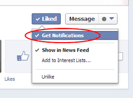 "Choose to ""get notifications"""