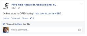 Fifi's Amelia Island had a smart Facebook post!
