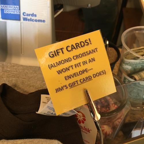 Gift cards signage