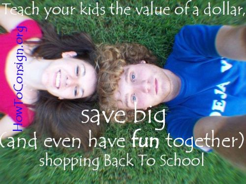 Teach your kids how to shop resale