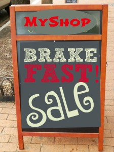 Brake Fast Sale idea from TGtbT.com