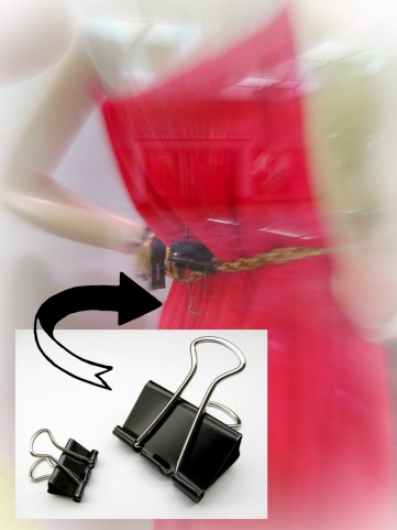 A simple spolution for too-large belts on consignment shop mannequins