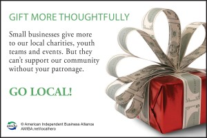 Shop Local, shop more thoughtfully