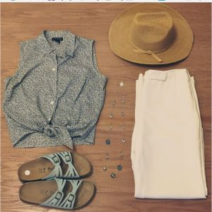 Sweet consignment shop summer outfit