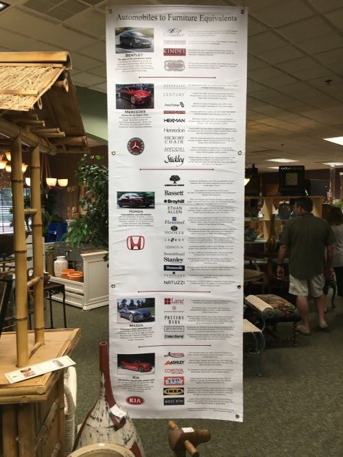 The variety of brands carried in this shop, as explained with car examples! TGtbT.com loves this!