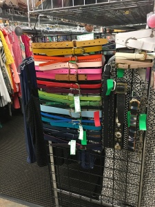 A rainbow of belts on an end cap is a marvelous touch, says Kate Holmes of TGtbT.com